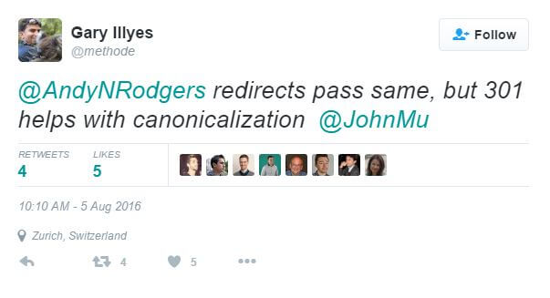 Gary Illyes on Redirects