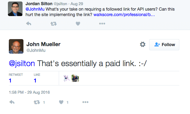 Paid Links via API