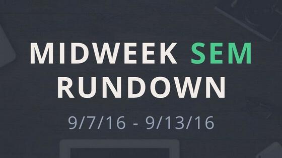 Midweek SEM Rundown 9-13