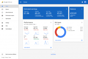 Adsense Portal Redesign