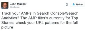 Amp Tracking in Google Search Console