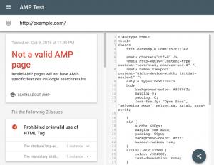 Updated Amp Validation Tool Google