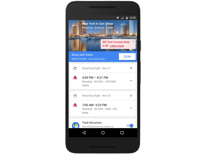 Google Flights Alerts