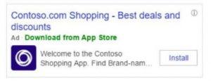 Bing App Install Ads